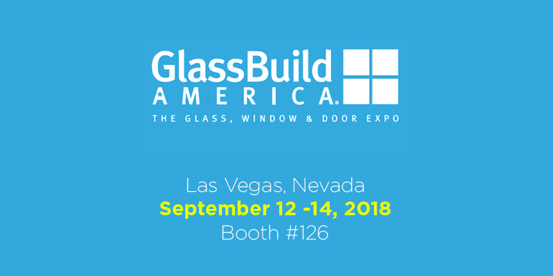 We'll be at the Glassbuild America fair in Las Vegas from 12 to 14 September 2018